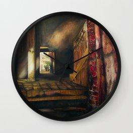 Corridor in Venice Wall Clock