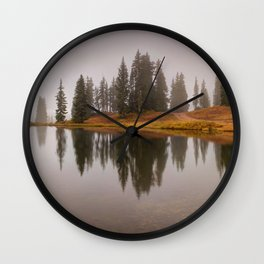 Colorado Fall Colors Panorama Wall Clock