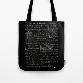 Theory of relativity : spacetime Tote Bag