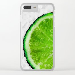 Lime Fizz Clear iPhone Case