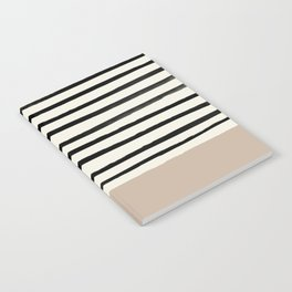 Latte & Stripes Notebook