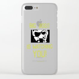 Big Boss is watching you Clear iPhone Case