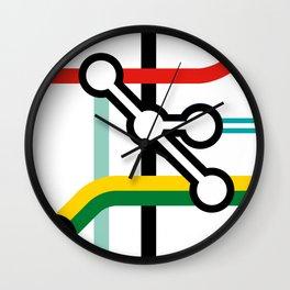 Tube Junction No1 Wall Clock