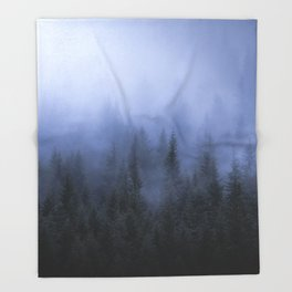 Foggy Forest Throw Blanket