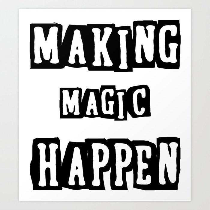 Making Magic Happen Chemist T Shirts Art Print By Sanaa24 Society6