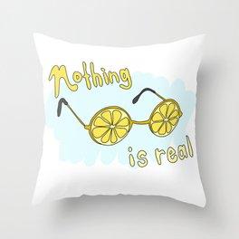 Nihilistic Lemon Glasses Throw Pillow