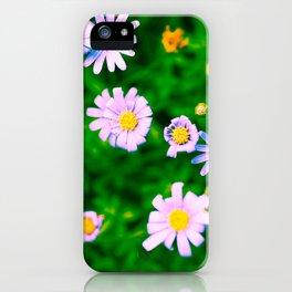 Hypercolor Purple Flowers iPhone Case