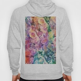 Bright Cheerful Mulitcolor Floral Abstract Hoody