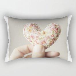My heart in my hand... Rectangular Pillow