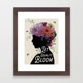 LET EQUALITY BLOOM Framed Art Print