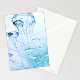 Jellyfish Double Exposure Stationery Cards