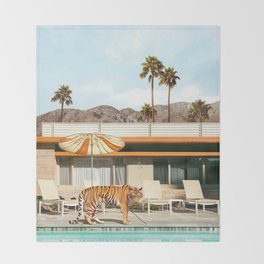 Pool Party Tiger Throw Blanket
