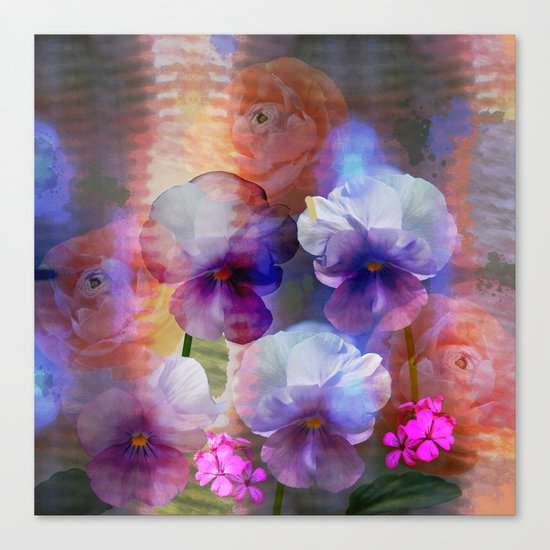 Paint me a garden Canvas Print