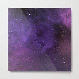 Watercolour Galaxy Nebula Metal Print
