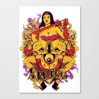 rockabilly Canvas Prints featuring Sinful rockabilly  by Tshirt-Factory
