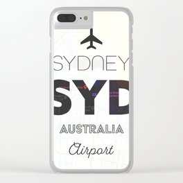 Sydney airport minimal Clear iPhone Case