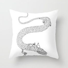 Raat Snaake Throw Pillow