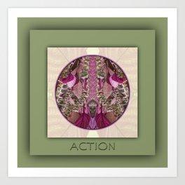 Action Manifestation Mandala No. 4 Art Print
