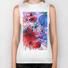Bold Modern Flower Art - Wild Flowers 3 - Sharon Cummings Biker Tank