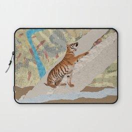Tiger Cub - Mixed Media Digital art Laptop Sleeve