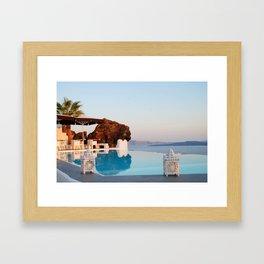 Infinity Pool Framed Art Print