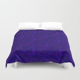 Shiny blue confetti Duvet Cover