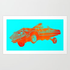 Orange Lowrider Art Print