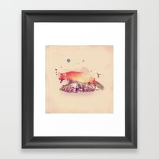 Woodlands Fox Framed Art Print