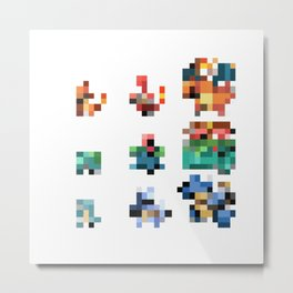 Pixelmon: RED Metal Print