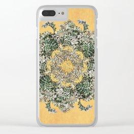 Silver Artemsia Mandala Clear iPhone Case