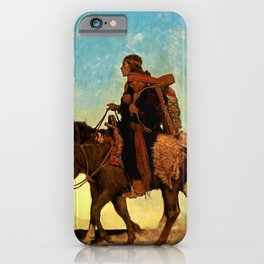 "N C Wyeth Western Painting ""Navajo Family"" iPhone Case"