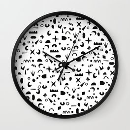Paper Pieces Wall Clock