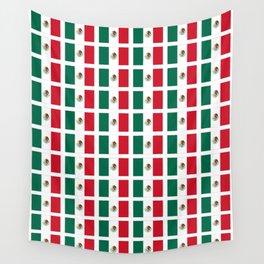 Flag of mexico 2- mexico,mexico city,mexicano,mexicana,latine,peso,spain,Guadalajara,Monterrey Wall Tapestry