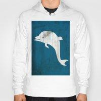 dolphin Hoodies featuring Dolphin by Renato Armignacco