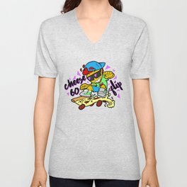 Cheese-60 Flip Unisex V-Neck