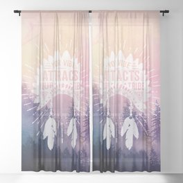 Your Vibe Attracts Your Tribe - Magical Forest Sheer Curtain
