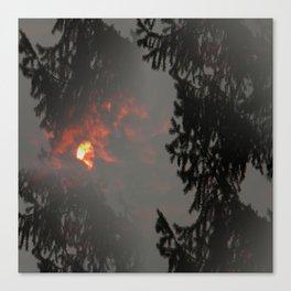 Fiery Smokey Sun.... Canvas Print