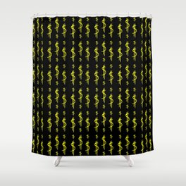 Symbol of dollar 4 Shower Curtain