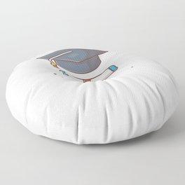 Graduate cap with scholarship Floor Pillow