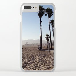 Santa Monica Beach in California Clear iPhone Case