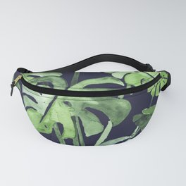 Delicate Monstera Blue #society6 Fanny Pack