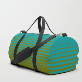 gradient stripes aqua olive Duffle Bag