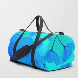 Poppies In Aqua Color #decor #society6 #buyart Duffle Bag