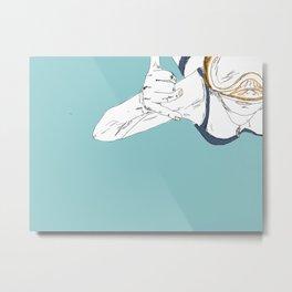 Snorkeler (Turquoise) Metal Print