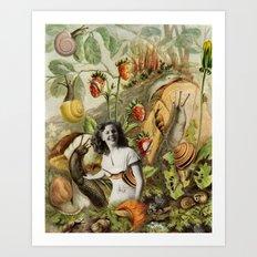 Betsy the Snail Wrangler Art Print