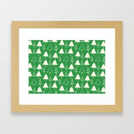 Christmas Tree Green Framed Art Print