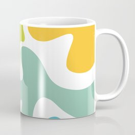 Groovy Flowers Maximalist Abstract in Springtime Colors Coffee Mug