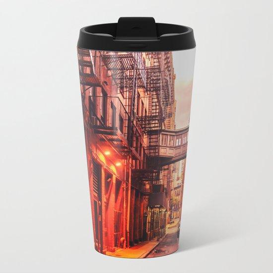 New York City Alley Metal Travel Mug