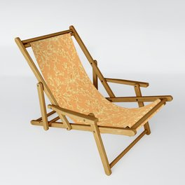 Orange Floral Pattern Sling Chair