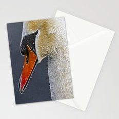 Fractalius Swan Stationery Cards